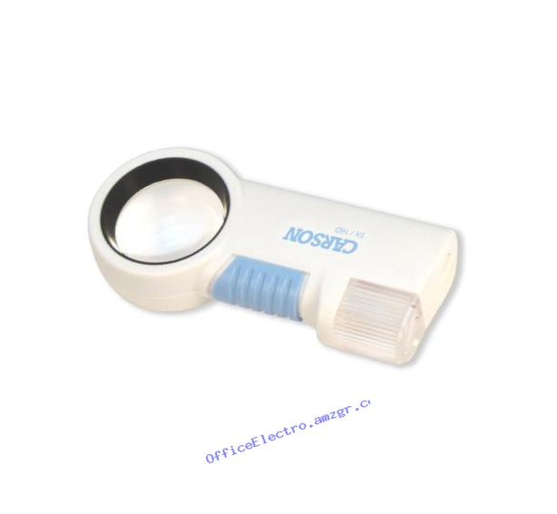 Carson Optical CP-16 High Power (5X) Aspheric Lens LED Lighted Magnifier & Flashlight