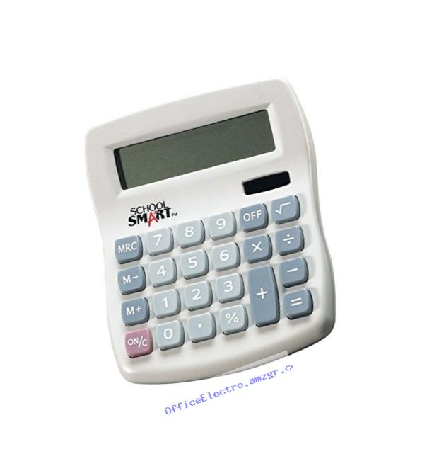 School Smart 8 Digit Dual Power Calculator