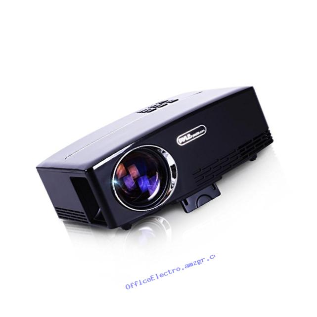 Pyle Portable Multimedia Home Theater Projector - HD 1080p LED with USB HDMI Digital Data System Projection for Entertainment Video Photo Game Full Cinema Movie in your Laptop PRJG98