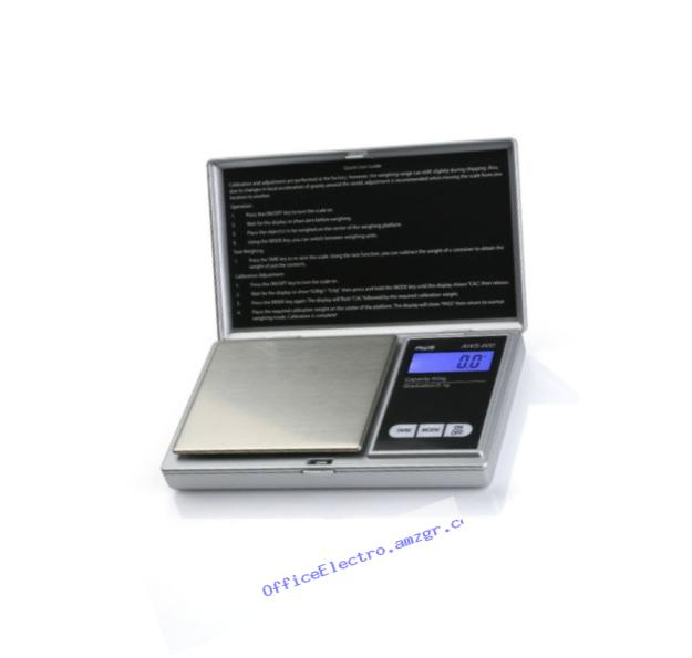 American Weigh Scales Signature Series Silver AWS-600-SIL Digital Pocket Scale, 600 by 0.1 G