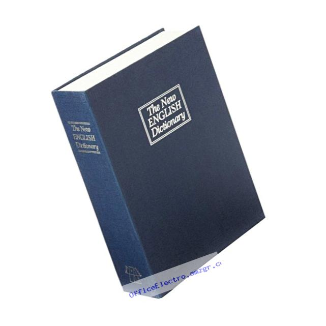 Trademark Home Dictionary Diversion Book Safe with Key Lock, Metal, Dark Blue - Full Size