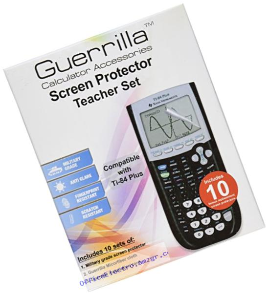 Guerrilla TI-84 Plus Screen Protectors ??� Classroom Pack of 10