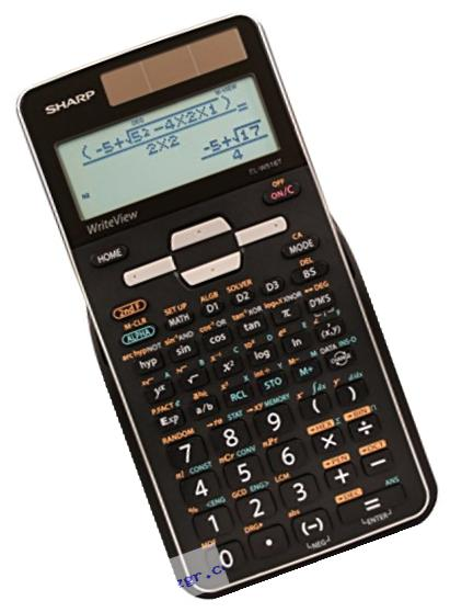 Sharp EL-W516TBSL Advanced Scientific Calculator with WriteView 4 Line Display & Solar Power
