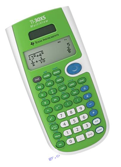 Texas Instruments TI30XSMVLIMEGRN Calculator